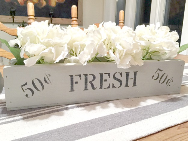Build Your Own Fresh Flowers Wooden Crate Table Centerpiece