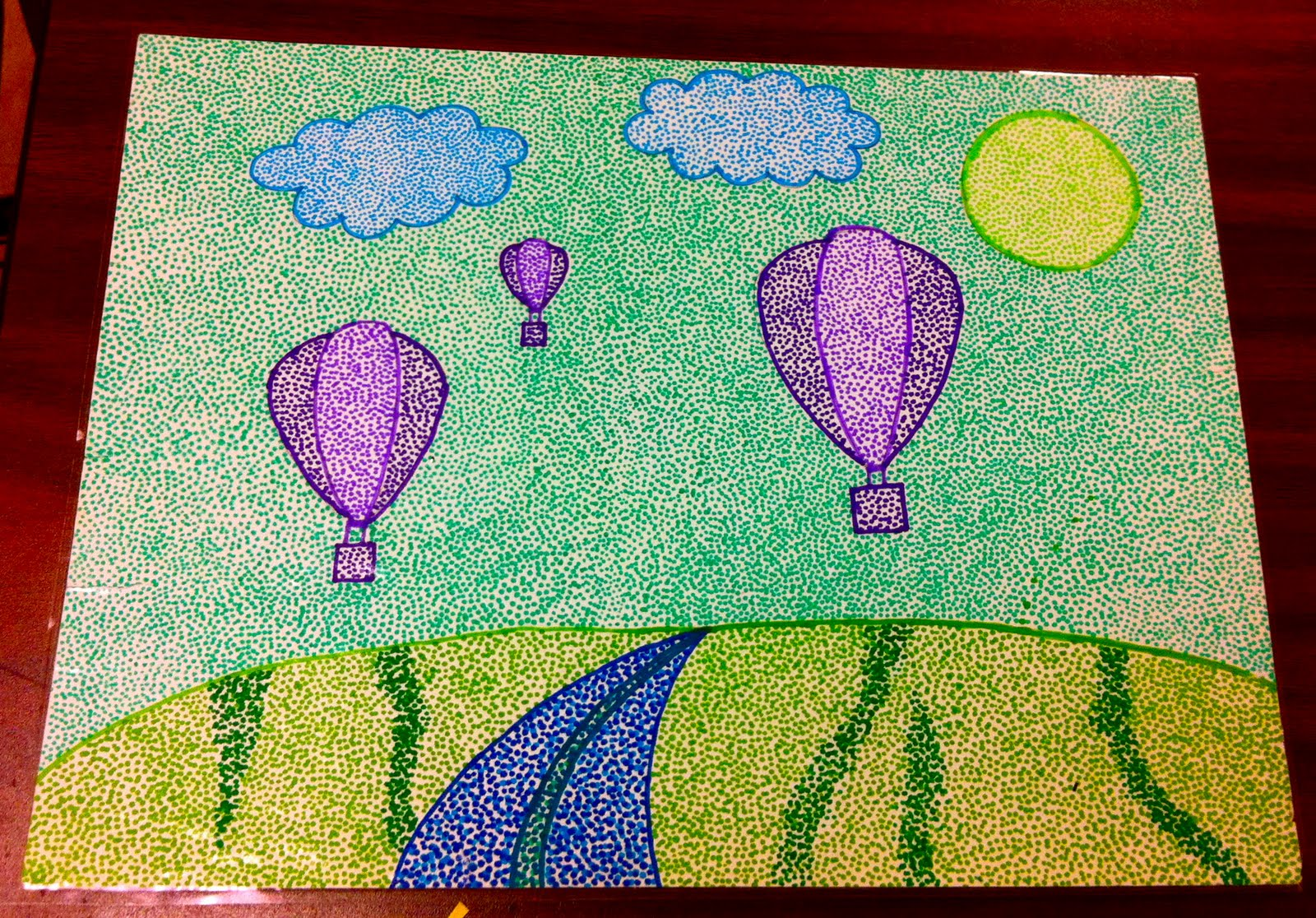Kirby Middle Visual Art Pointillism And Scribble Art In