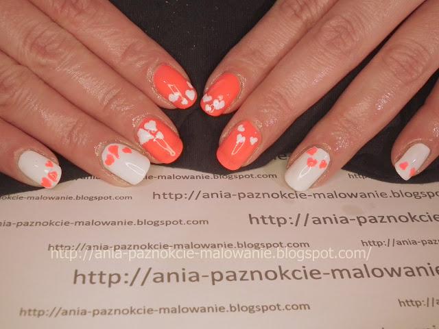 wzorki na paznokcie walentynki