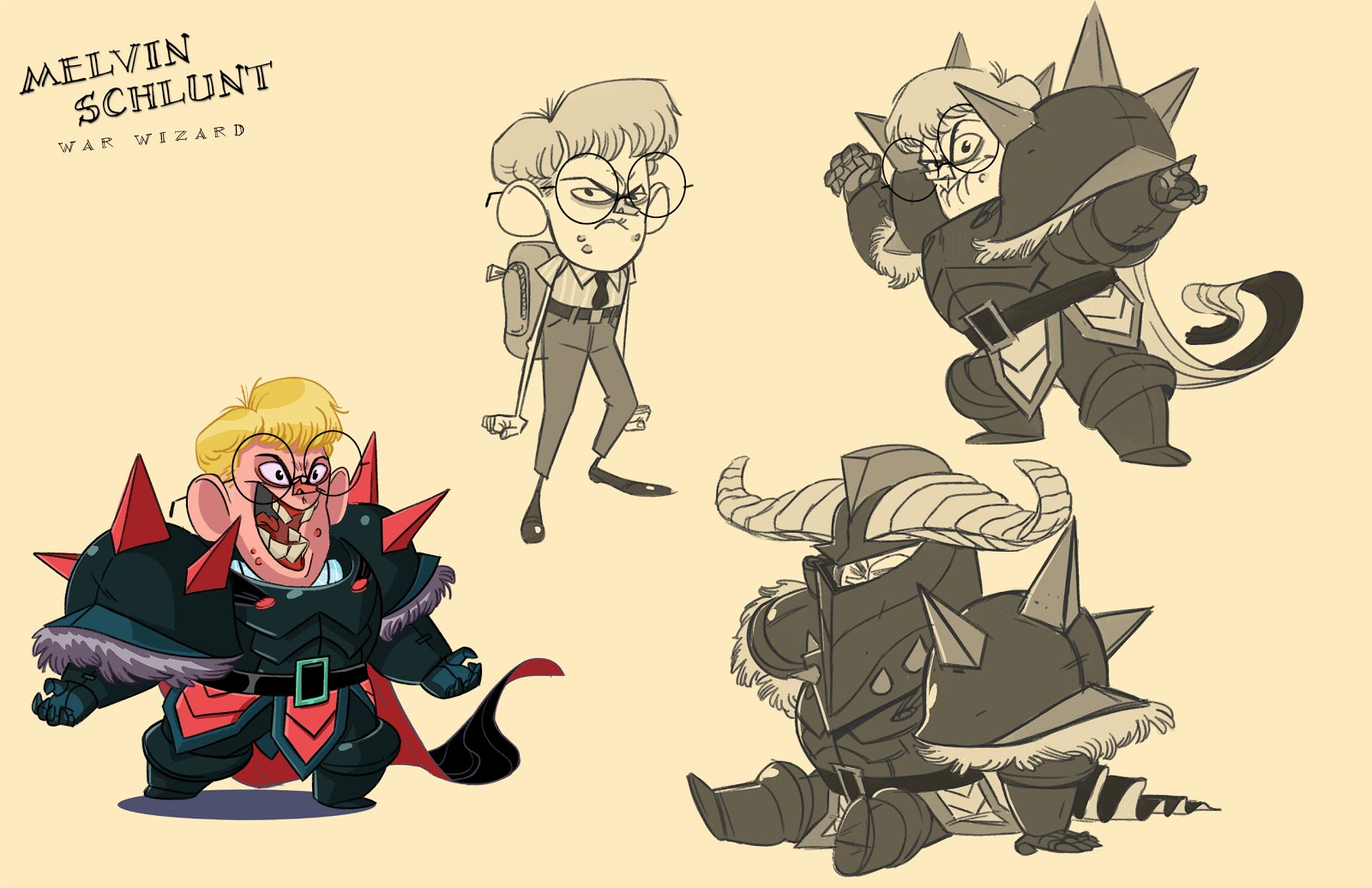 Rick Lacy Cartoon Character Concepts