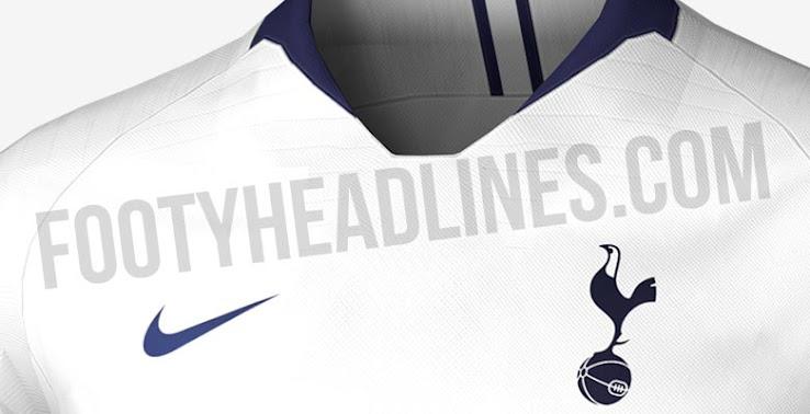 233857306 Nike Tottenham Hotspur 18-19 Home Kit This image shows the Tottenham  2018-2019 home shirt.