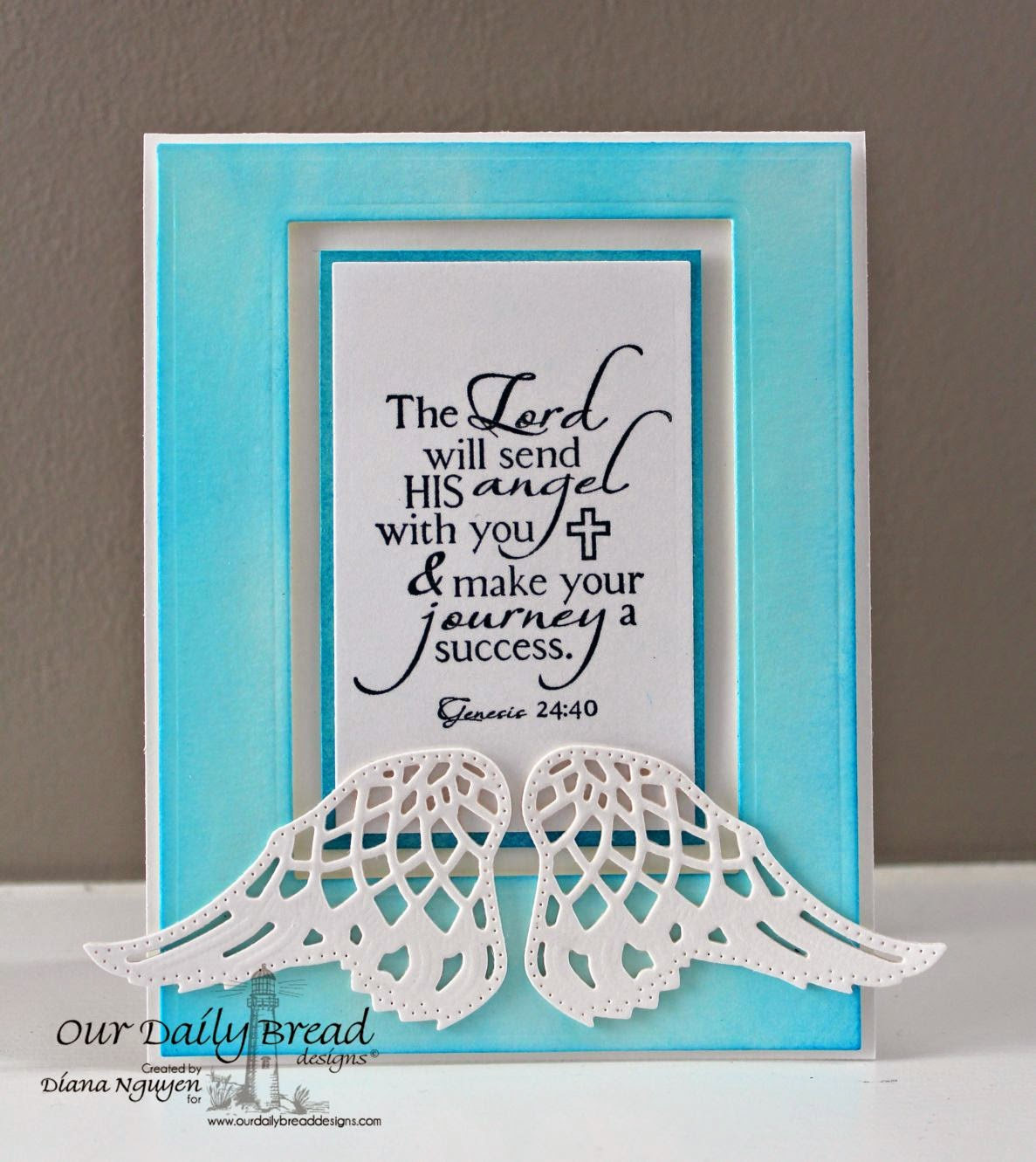 Diana Nguyen, Angel Wings, ODBD, Our daily Bread designs, Holy Angels, cas, card
