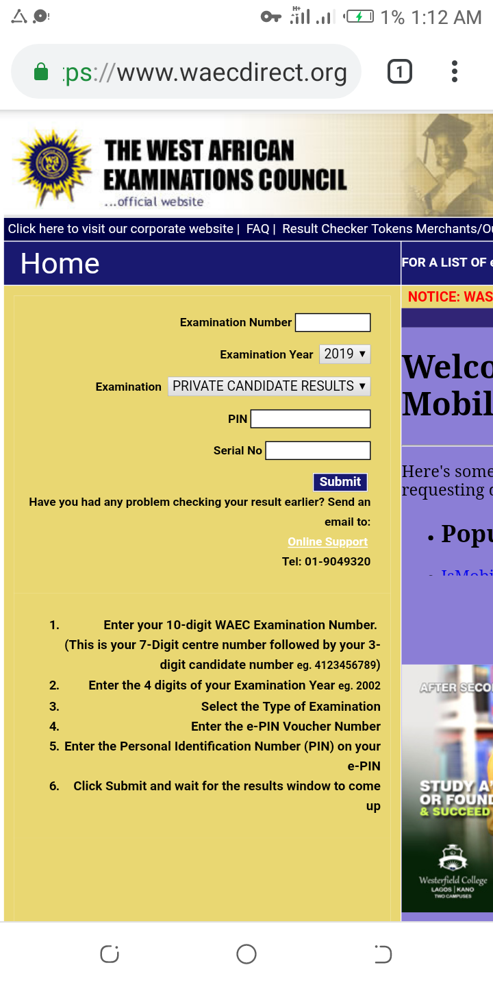How To Check 2019 Waec Result - VIP USERS