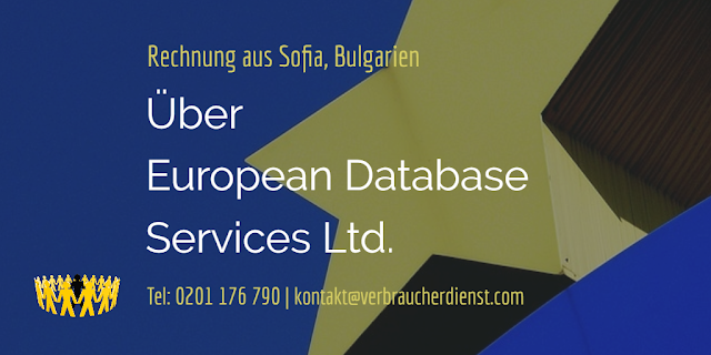 Beitragsbild: European Database Services Ltd. | Rechnung aus Sofia, Bulgarien