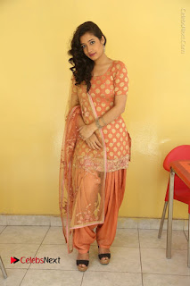 Telugu Actress Santoshi Sharma Latest Stills in Salwar Kameez at HBD Movie Teaser Launch  0122.JPG