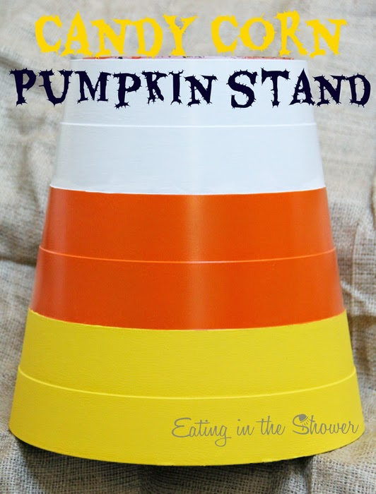 Candy Corn Pumpkin Stand
