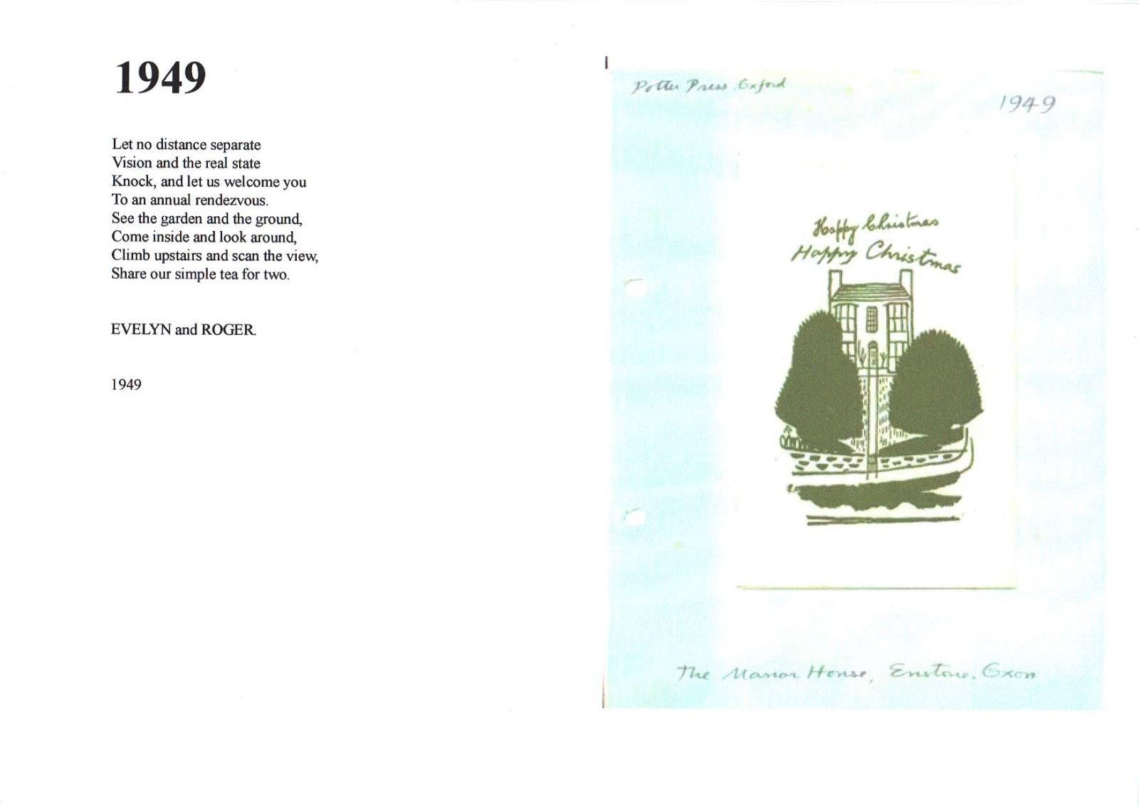 Evelyn Dunbar Christmas Cards 1946 50
