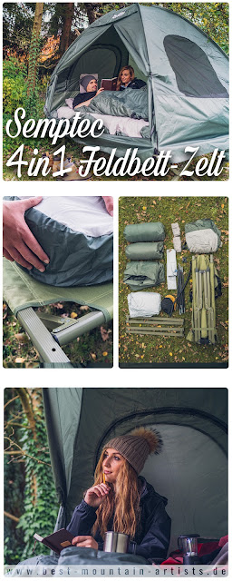 Semptec Urban Survival Technology 4in1 Feldbett-Zelt  Zelt-Review  Semptec-Zelt