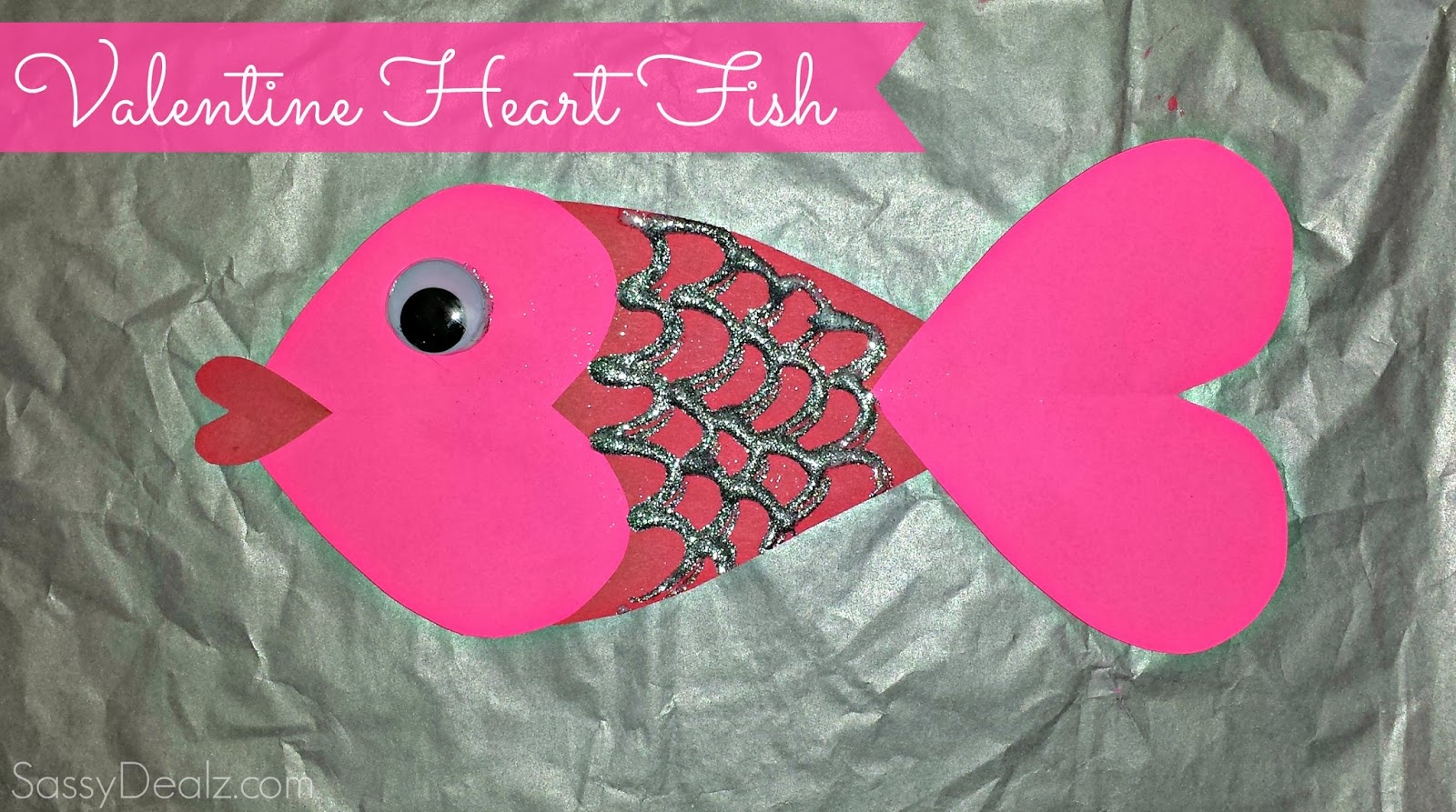 Valentines Day Heart Fish Art Project