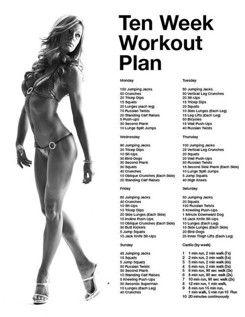 Ten Week Workot Plan