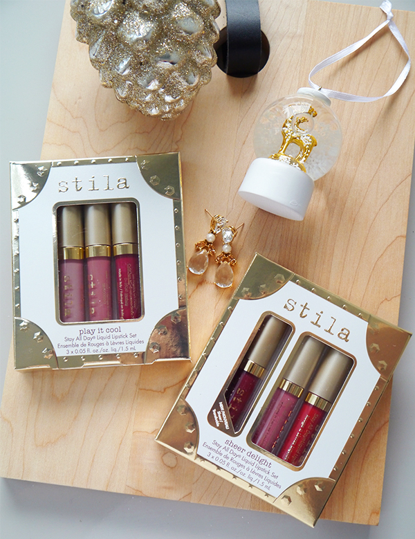 Stila holiday 2017 Stay All Day Liquid Lipstick gift sets Play It Cool and Sheer Delight