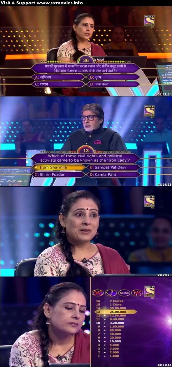 Kaun Banega Crorepati 02 October 2017 HDTV 480p 250MB