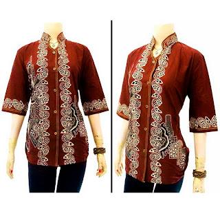 Blouse Wanita Batik DBT Batik Bagoes Solo