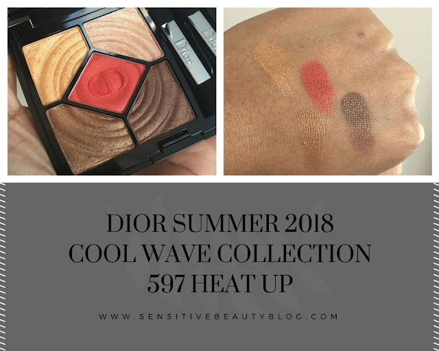 Dior Cool Wave Collection Summer 2018 597 Heat Up Swatches on dark skin