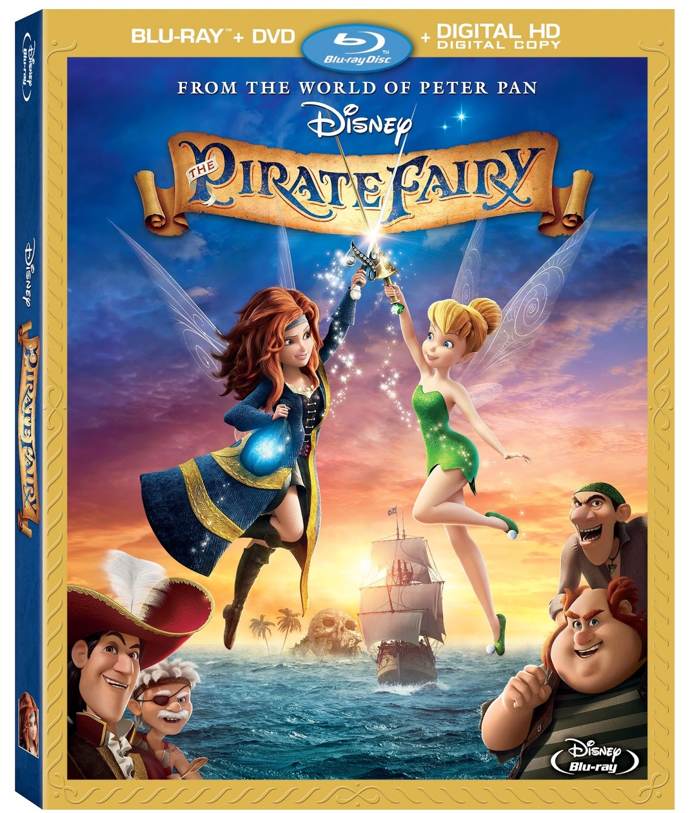 Disney Doppelgangers Pirates Edition: Disney Film Project: The Pirate Fairy Blu-ray & Movie Review