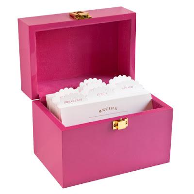 pink recipe box