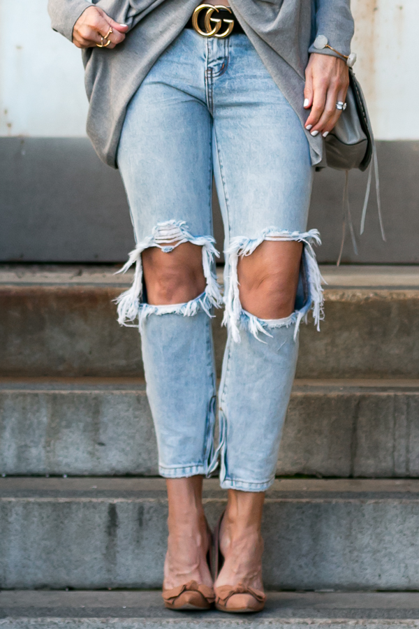light denim ripped jeans parlor girl