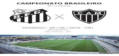 Como assistir Santos x Atlético-MG ao vivo na TV e online