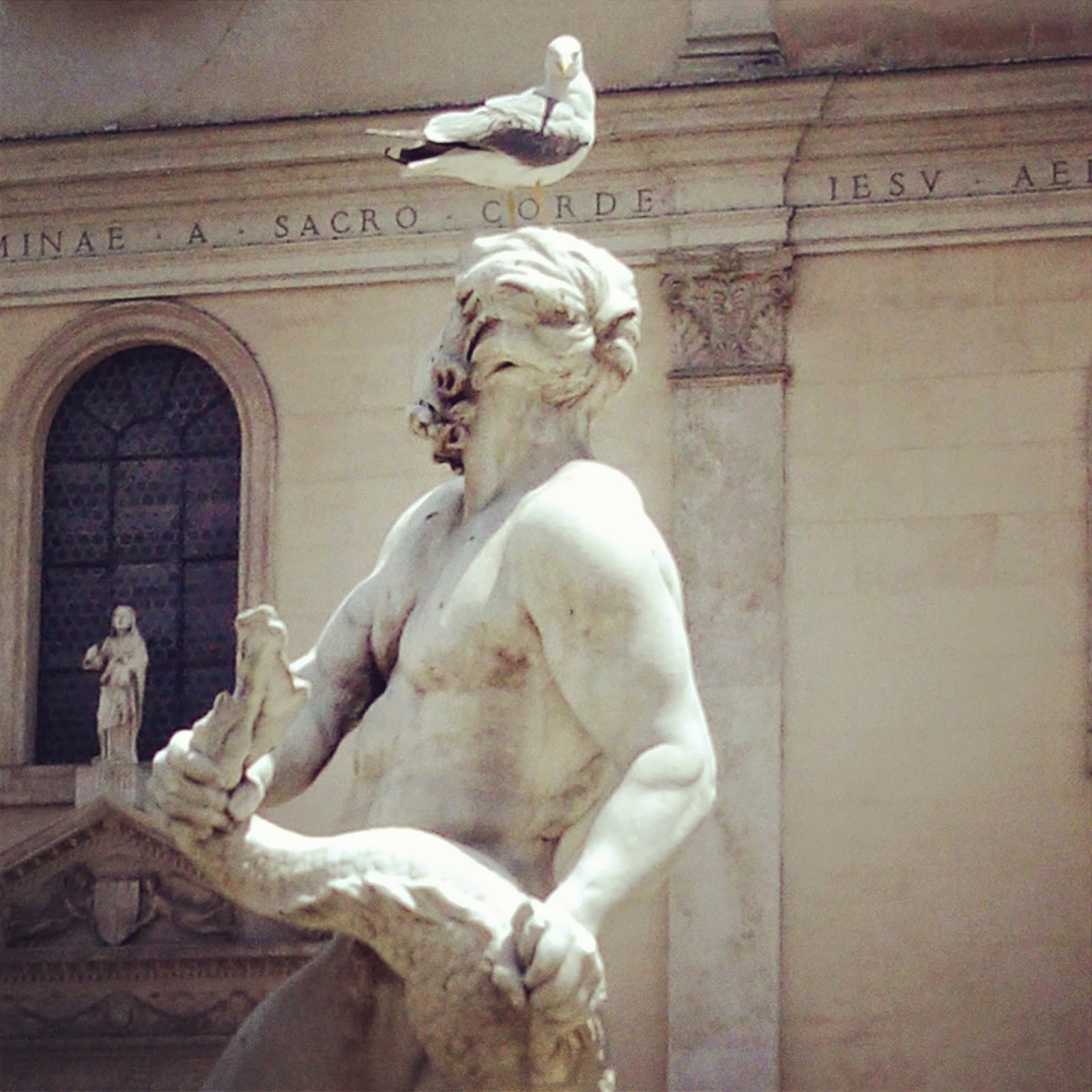Detalhe da Fonte dos Mouros, Piazza Navona