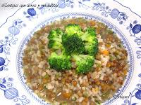 Lentejas con arroz y verduritas