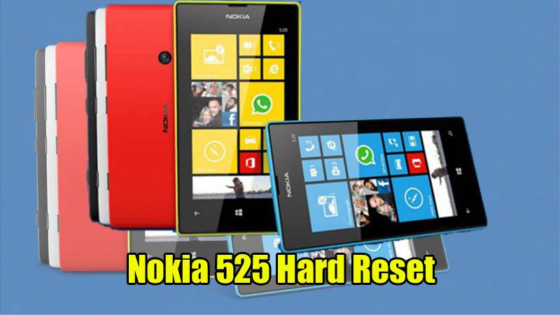 Nokia 525 Hard Reset