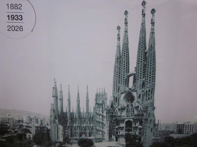 Basilica of Sagrada Familia in 1933