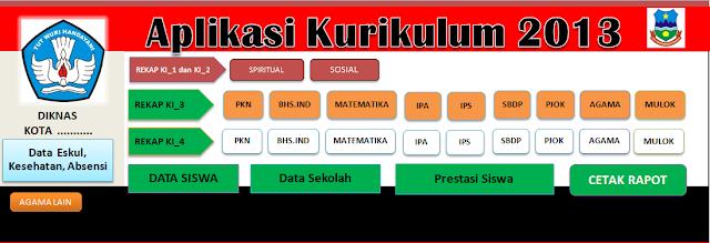 Aplikasi Raport Kurikulum 2013 SD
