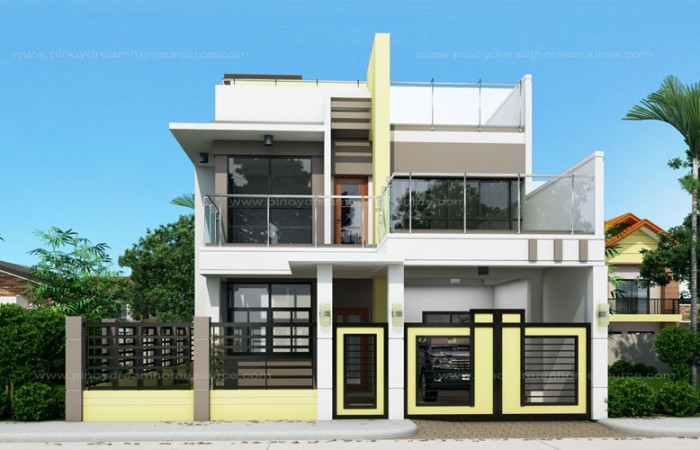 50 IMAGES OF 15 TWO STOREY MODERN HOUSES WITH FLOOR PLANS AND ESTIMATED COST