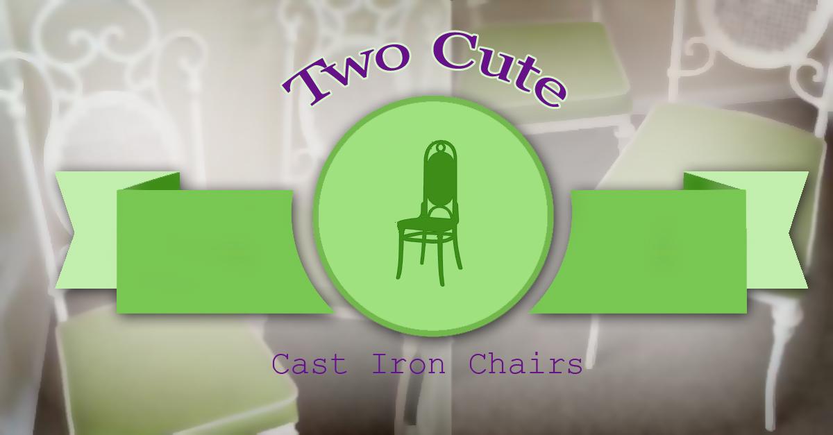 Set of 2 Cast Iron Chairs $60 - OKC Craigslist