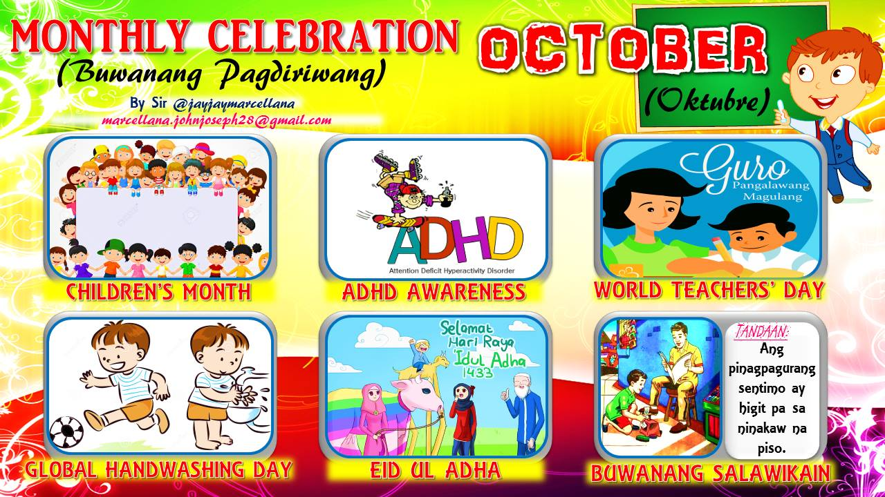 Classroom Officers Design ~ Monthly celebration with motto october