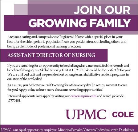Seeking Assistant Director of Nursing