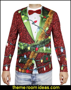 Ugly Christmas Sweater Long Sleeve Shirt   ugly sweaters - Christmas ugly sweaters  - decorate yourself - womens ugly sweaters - ugly mens sweaters - embellished ugly sweaters - fun sweaters - novelty sweaters - Christmas party sweaters - quirky party sweaters -