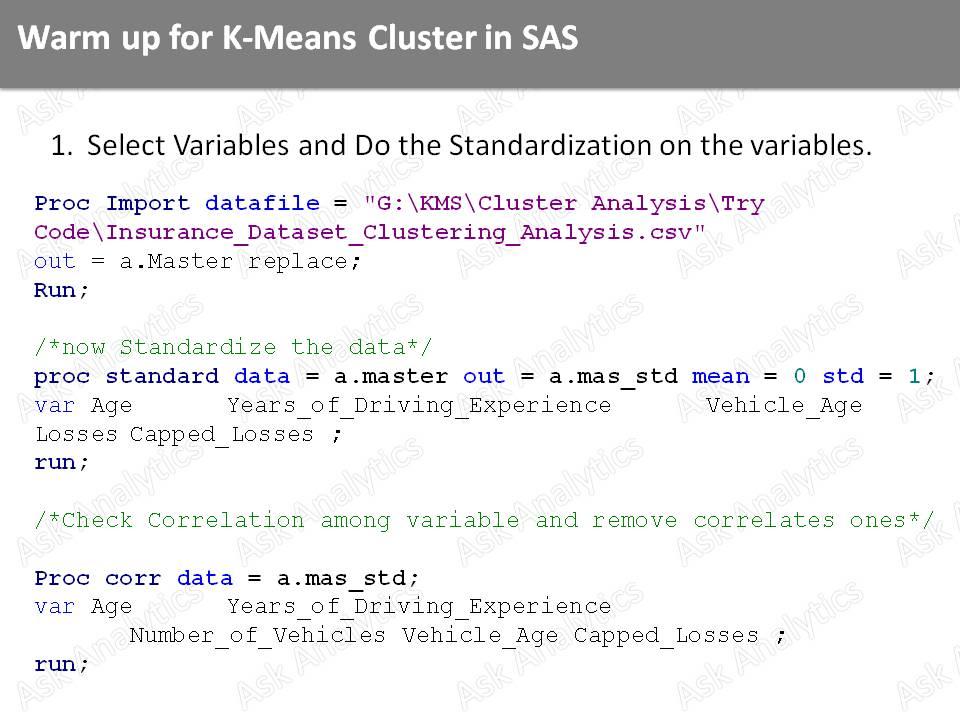 Ask Analytics: Cluster Analysis Slide # 20