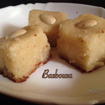 Basbousa - Arabic Semolina Cake