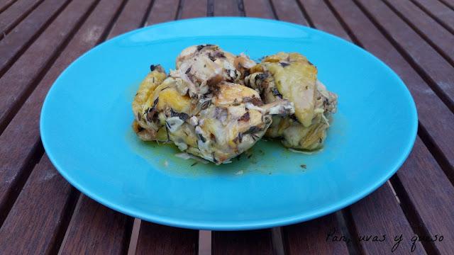 Pollo al cava (tradicional o Crock-Pot)