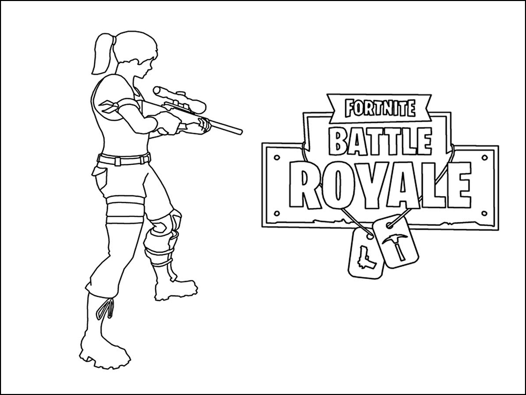 Fortnite Coloring Pages 008