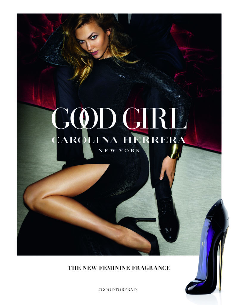 Karlie Kloss stars in the Carolina Herrera Good Girl Fragrance Campaign