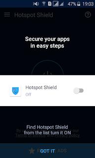 Izin Hotspot Shield