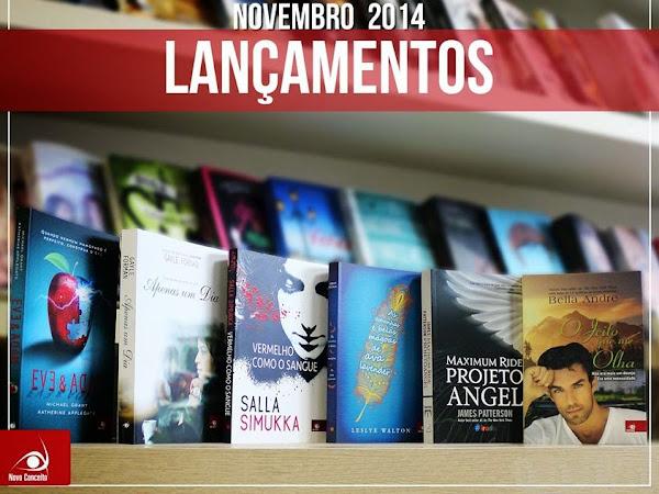 Lançamentos de Novembro da Editora Novo Conceito