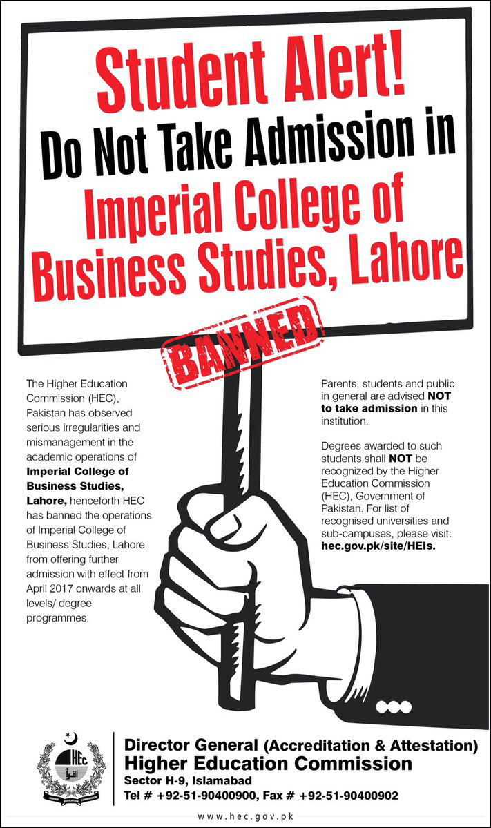 HEC bans Imperial College of Business Studies for this reason