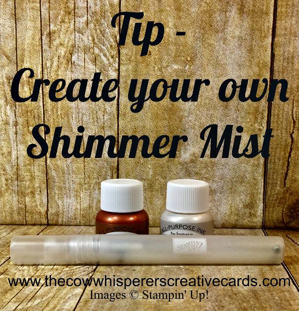 Tip, Shimmer Mist, Shimmer Paint, Stampin Spritzer