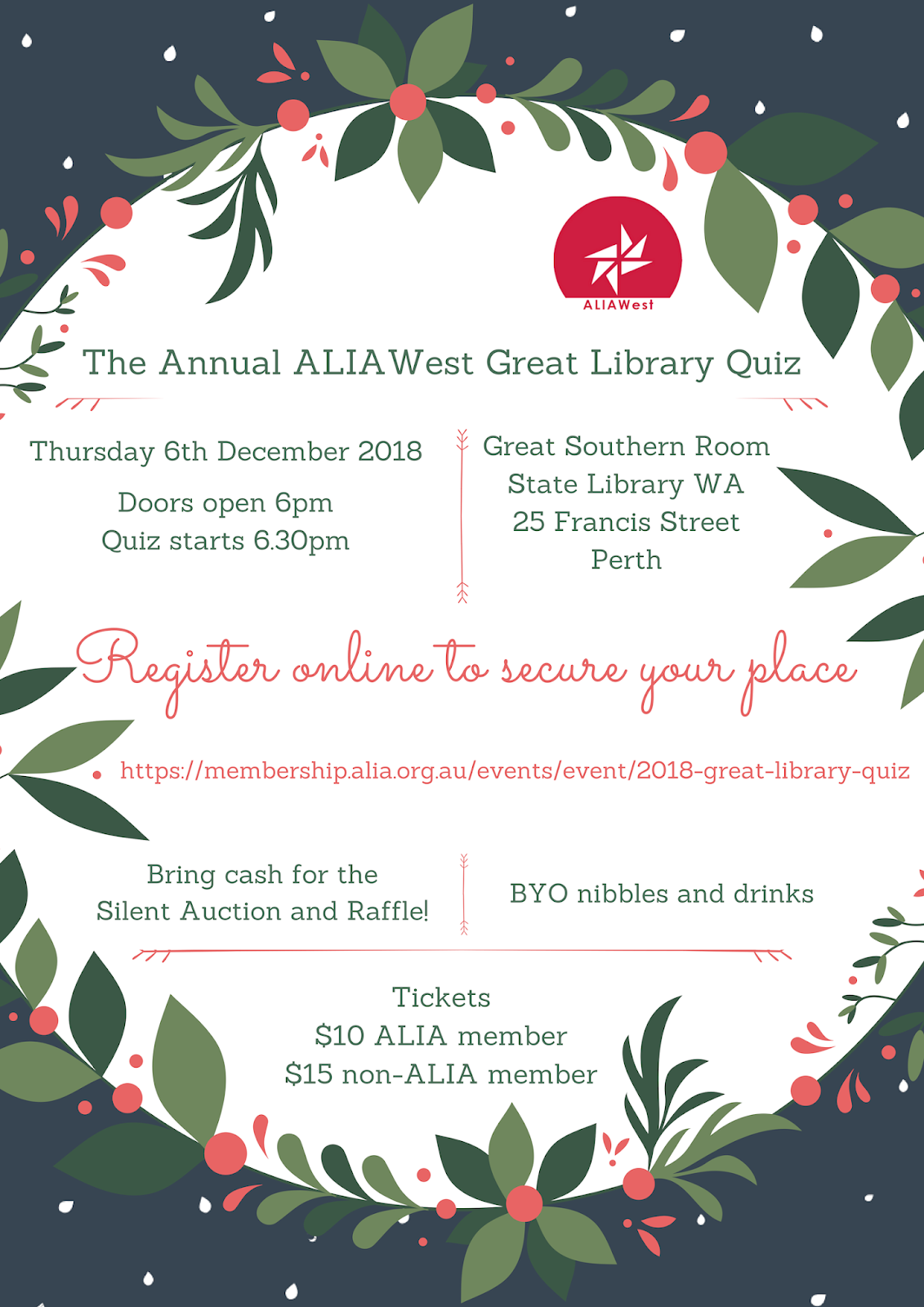 Tickets now on sale for the Great Library Quiz! - BIBLIA