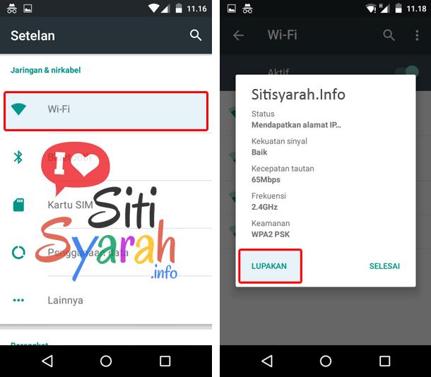 Solusi Android tidak konek wifi