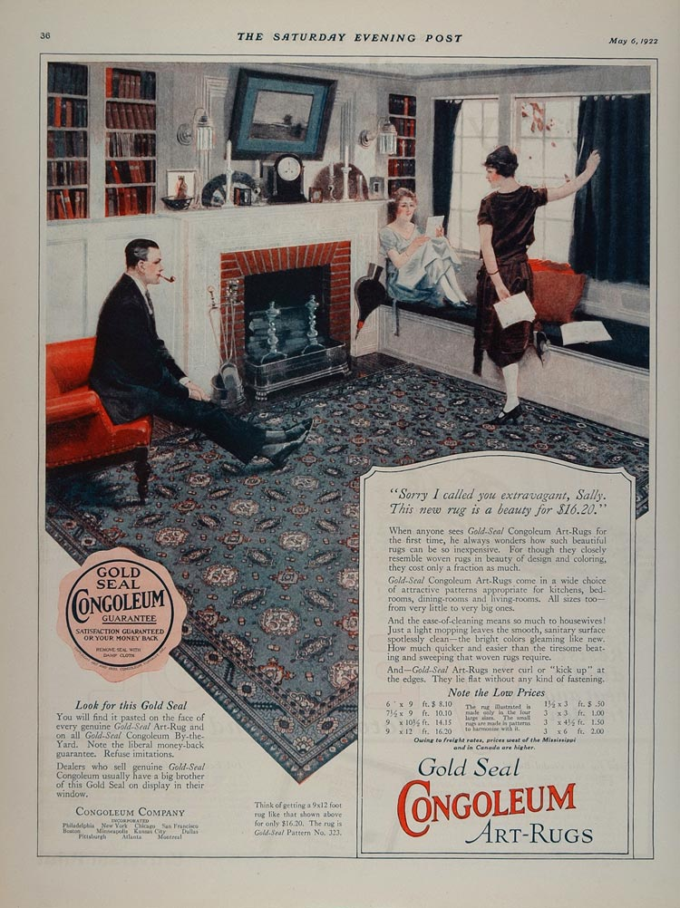 Vintage Recipe Blog Congoleum Carpet