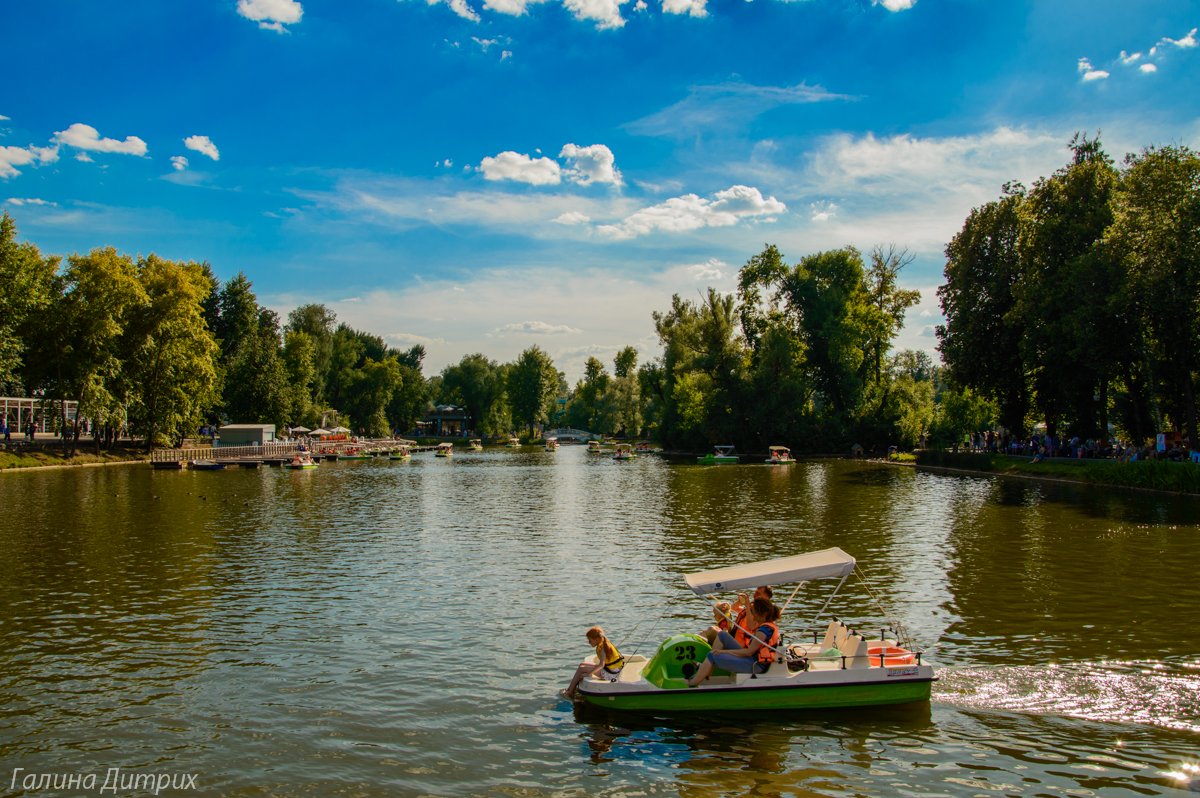 Парк Горького пруд катамараны фото