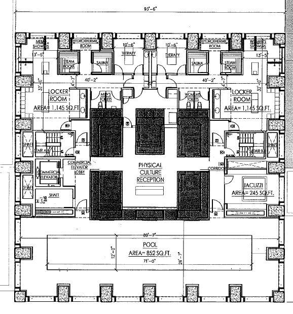 Floor plan showing one of the floors in the building