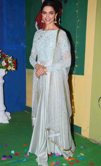 Dress no. 29 - Deepika padukone in Kamdani work Anarkali