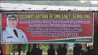 Pelantikan Taruna Angkatan Ke 3 SMK Sakti Gemolong Tahun Ajaran 2017/2018