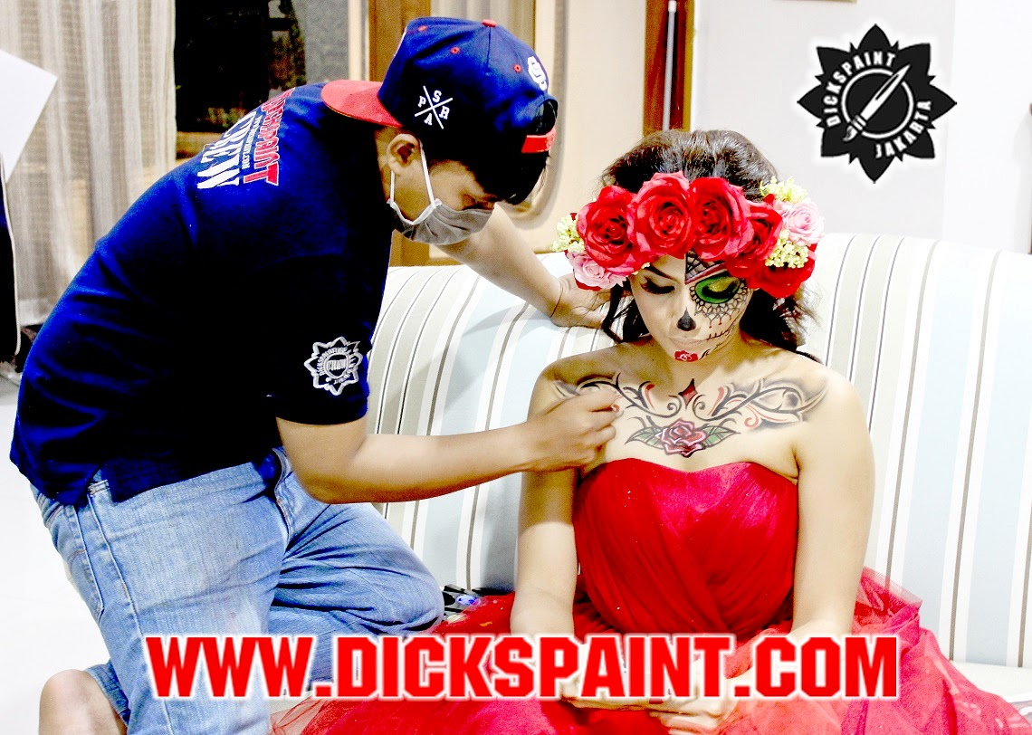 make up horror jakarta sugarskull