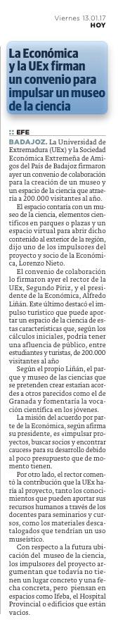 Museo de la ciencia Badajoz RSEEAP Lorenzo Blanco